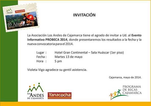 Invitaciones 2014