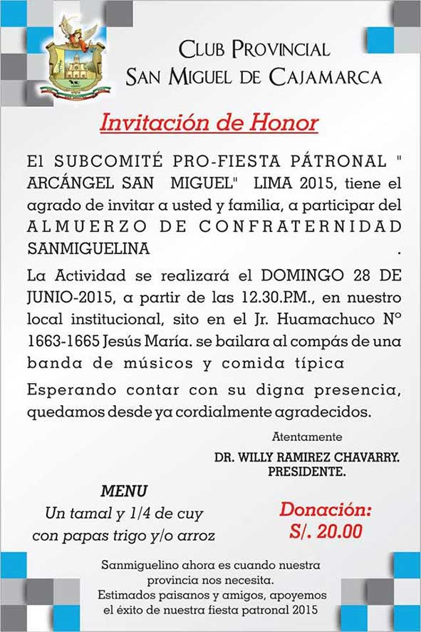 Invitaciones 2015