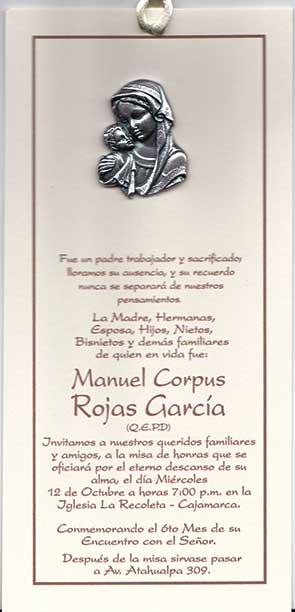 Cajamarca Sociales Misa De Honras 2007 Consuelo Gamboa